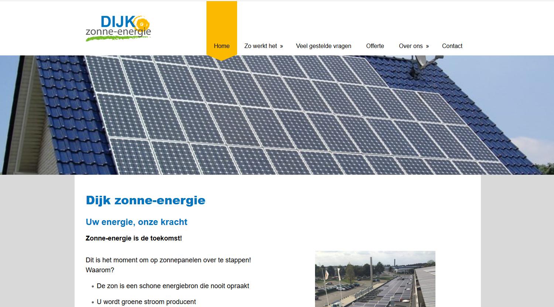 Website Dijk Zonne-energie