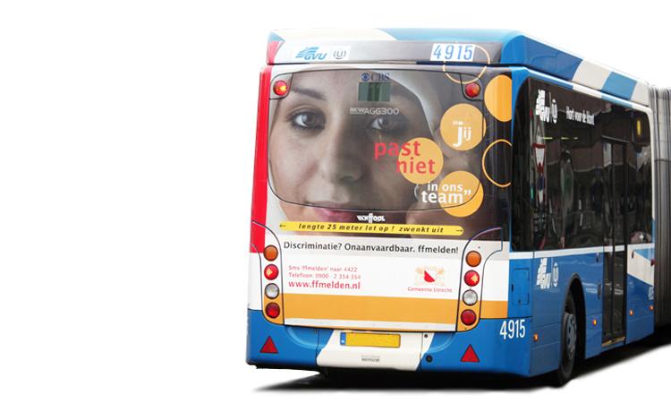 Gemeente Utrecht: Bus 'Discriminatie? ffmelden!