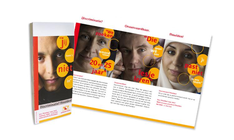 Gemeente Utrecht: Folder 'Discriminatie? ffmelden!'